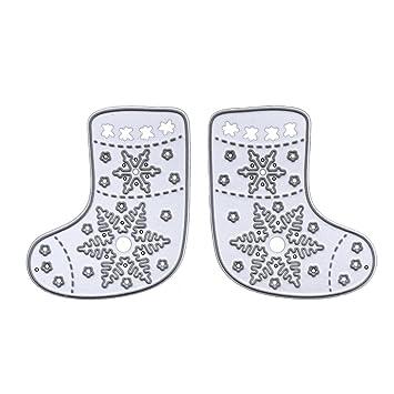 aisme Navidad Estampado Calcetines de corte muere Plantillas para DIY álbum de recortes Tarjeta repujado Craft regalo de Navidad: Amazon.es: Juguetes y ...