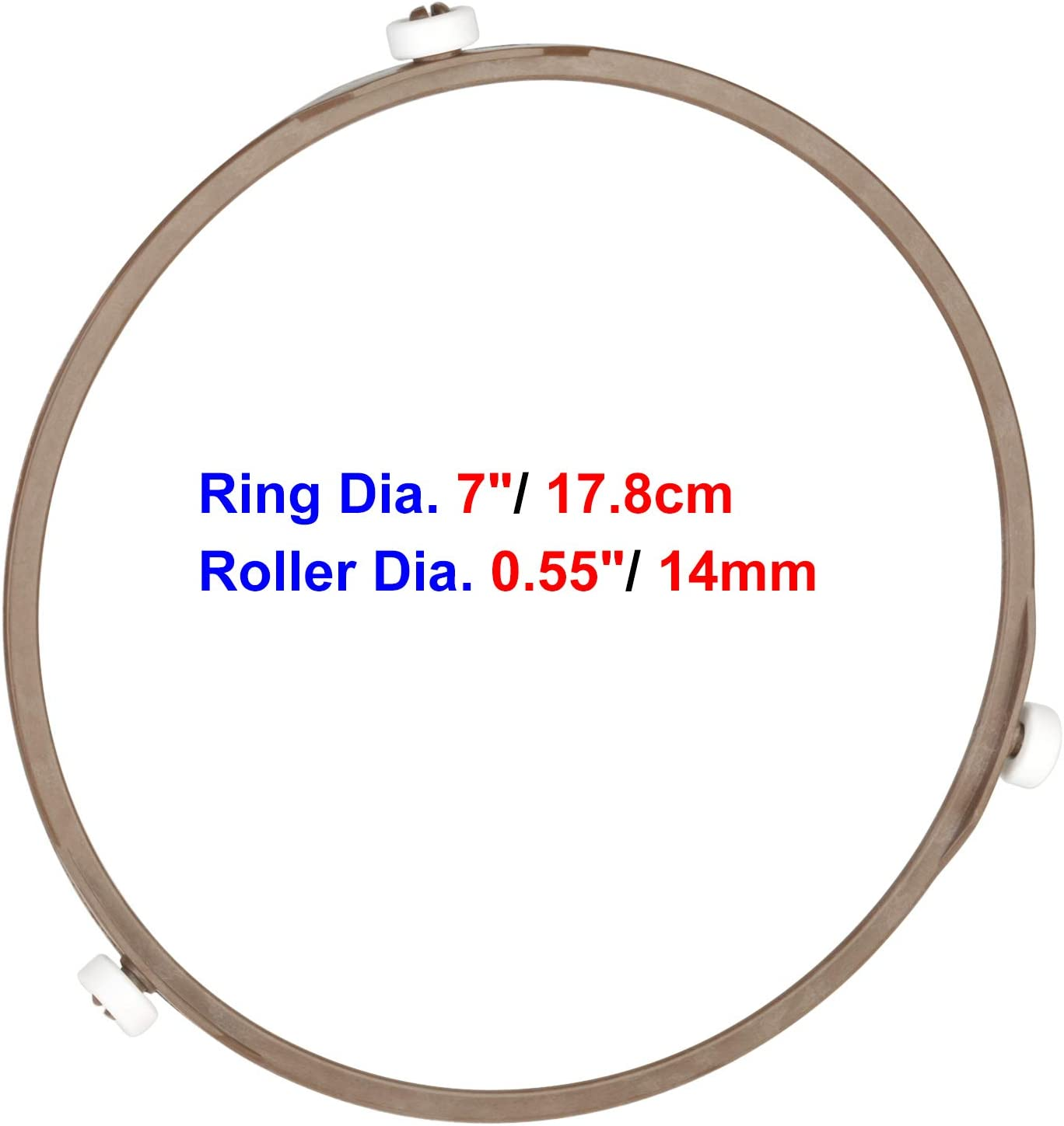Rotating Roller Ring for 9.6 and 10.6 Plate UniTry 7 Microwave Turntable Support Ring Dia. 7 inch// 17.8cm, Roller Dia. 12mm Microwave Oven Tray Support