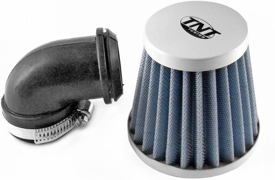 Luftfilter Tnt Stahlgewebe Weiss Gewinkelt 90 Grad Anschluss 28 35mm Auto