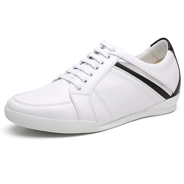 CHAMARIPA Chaussures Rehaussantes Sneakers en Cuir de Hautes Homme - Grandit  DE 6 cm-H62305K051D: Amazon.fr: Chaussures et Sacs