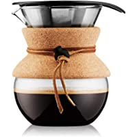 Bodum Pour Over Coffee Maker Cork Band, 17 Ounce.5 Liter, (11592-109)
