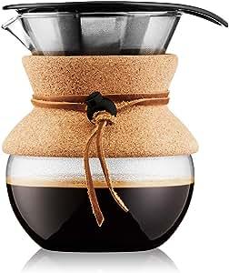 Bodum Pour Over Coffee Maker Cork Band, 17 Ounce.5 Liter, (11592-109)