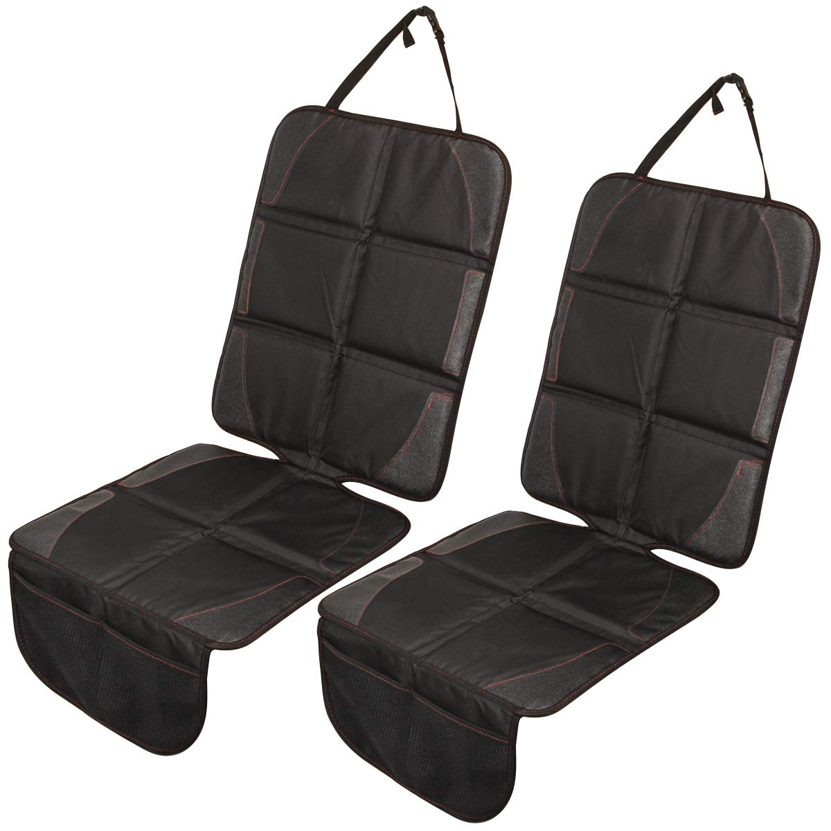 Car Seat Protector for Baby Child Car Seats Safety Anti-Slip Auto Seat Cover Mat to use Under Baby Infant Carseats Protect Vehicle Leather Cloth Upholstery with Organizer (1 Pack) KING SHOWDEN