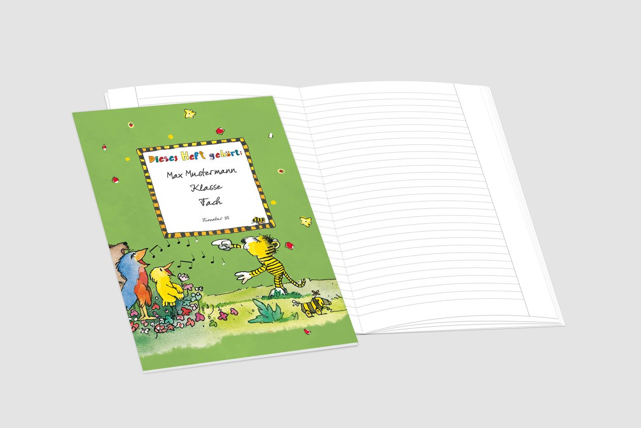 24 lustige JANOSCH-Schulhefte JANOSCH-Schulhefte JANOSCH-Schulhefte A4, »Fröhlicher Chor«,Lineatur 20, Pistaziengelb, personalisierbar, 32 Seiten B077SHRCBF | Sale Outlet  008444