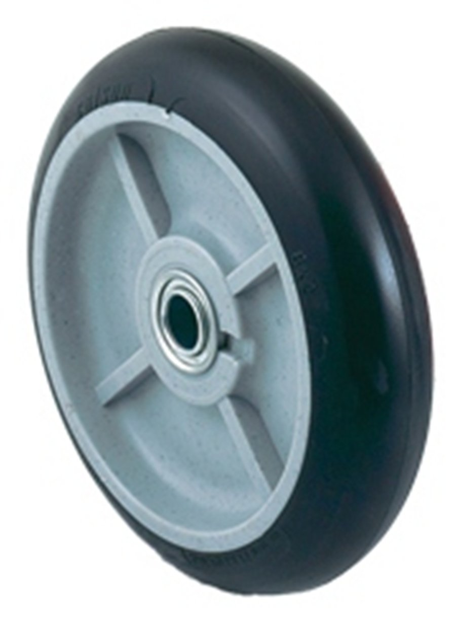 Harper Trucks WH 55P Mold On Rubber 8 Inch by 2 1 4 Inch Ball Bearing Poly Hub Hand Truck Tire