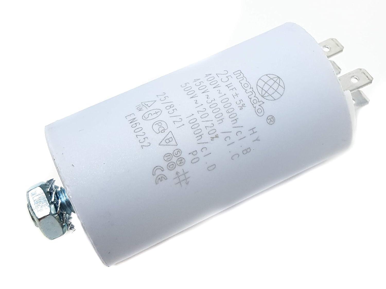 Condensador de arranque del motor 25 µF, 450V