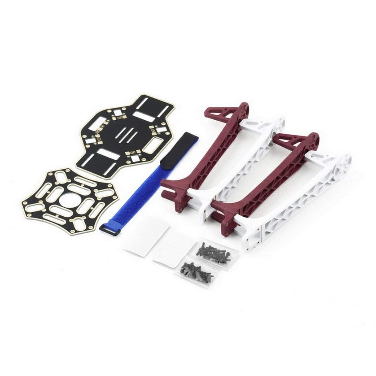 F450 TOP & Bottom F450-V2 Central Frame Landing Arm Wheel Boards w/Screw Jiobapiongxin
