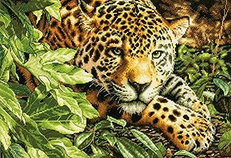 Leopard in Repose Dimensions 70-35300 Needlecrafts Counted Cross Stitch