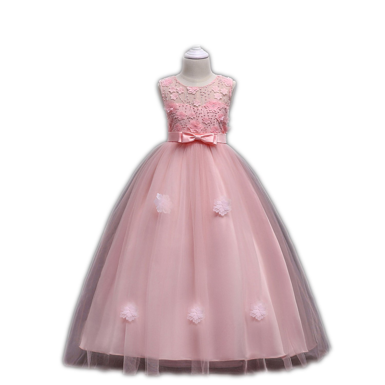 bdb90d680ccc Amazon.com  Perfectme Children Clothing Girls Dress 2018 New Vestidos  Princess Dresses for Girls Clothes Tutu Wedding Dress Summer Party Kids  Dresses