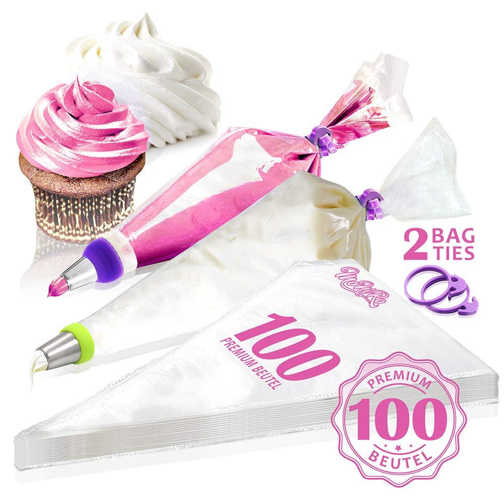 MoNiRo - 100 sac à poche monouso per la decorazione di cupcake e torte
