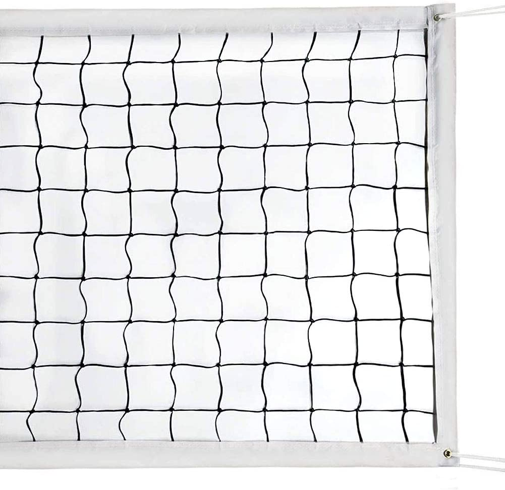 Amazon Com Milky House Volleyball Nets Volleyball Replacement Net For Outdoor Or Indoor Sports Backyard Schoolyard Pool Beach 32 Ft X 3 Ft Portable Outdoor Volleyball Net Poles Not Included Sports Outdoors