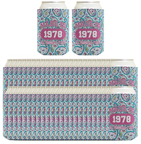 Wine Captain Wine Cooler - 40th Birthday Gift Coolie Made 1978 Can Coolies 48 Pack Can Coolie Drink Coolers Coolies Paisley