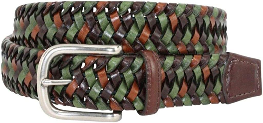Green Torino Multicolored Italian Leather with Hidden Stretch /& Polished Nickel 54063