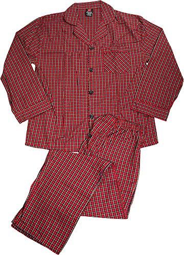 (Hanes Men's Woven Pajamas Red Plaid XL Hanes Men's Woven)