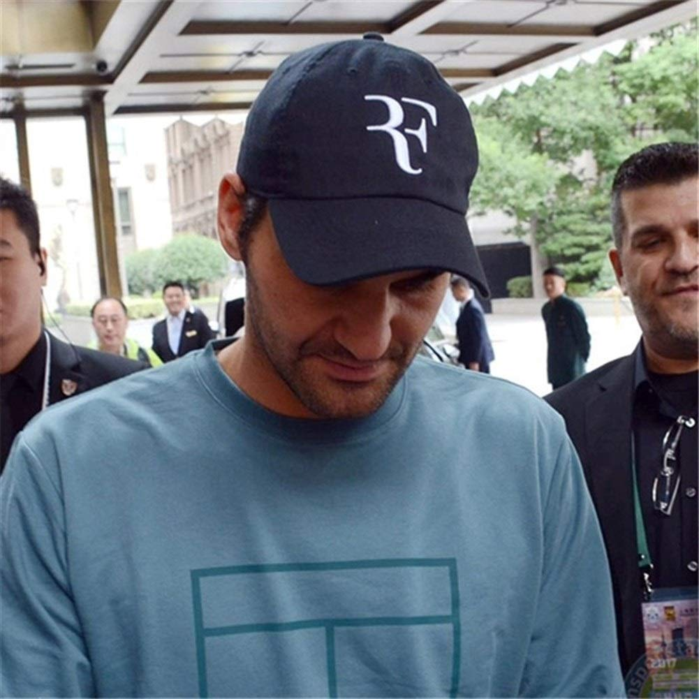 Nanyin Tennis Star Roger Federer Dad Hat Sports Baseball Cap 100/% Cotton 3D Embroidery Unisex Snapback Cap Tennis Cap F Hat