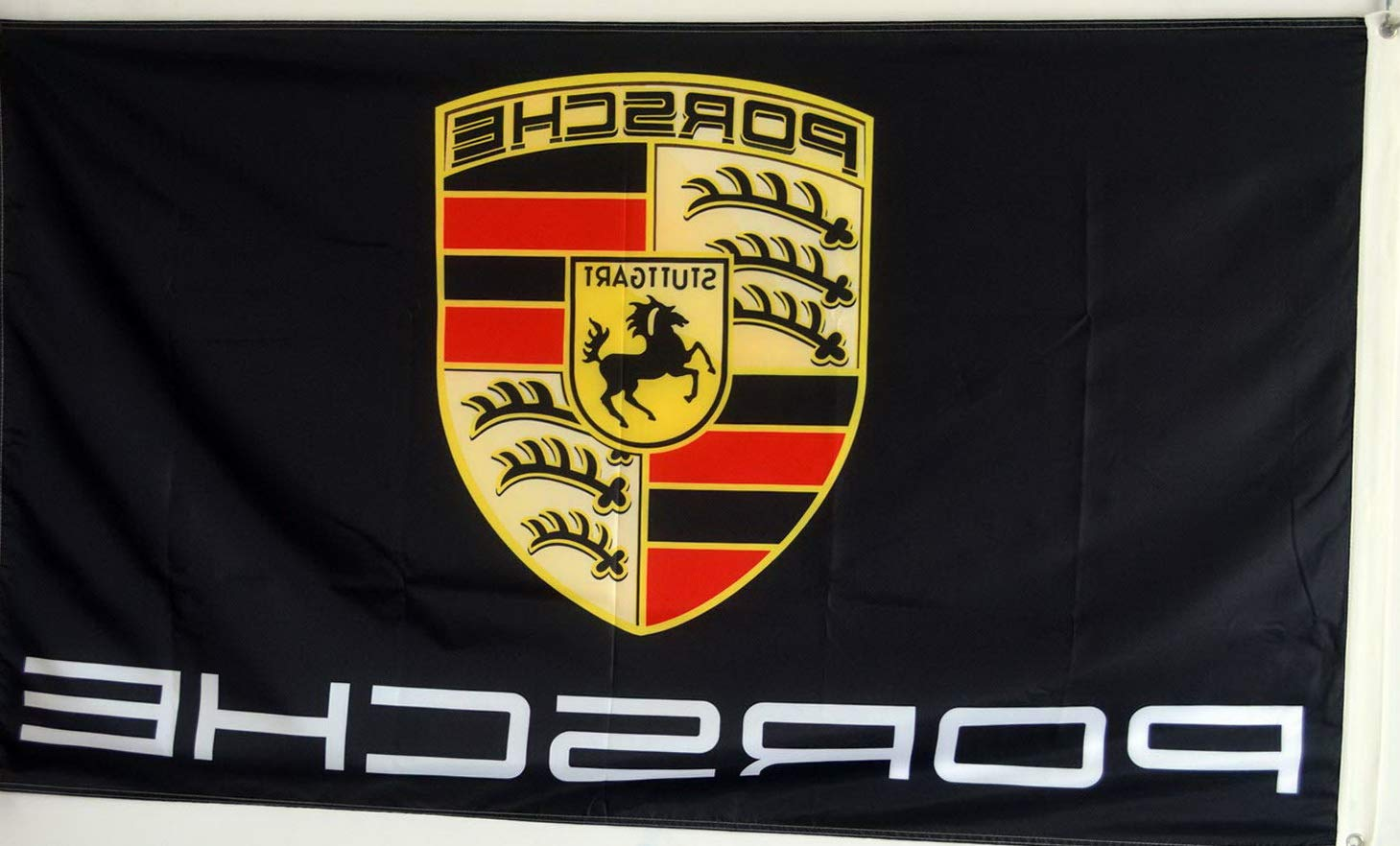 Werrox Annfly Porsche Flag Black High Performance Stuttgart 3X5FT Banner | Model FLG - 488 | by Werrox