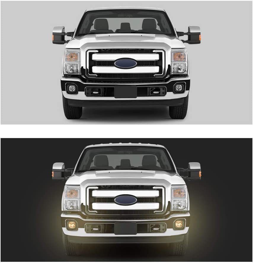 Tecoom OE Replacement Fog Lights Assembly Kit Fit for 2011-2016 Ford F250 F350 F450 F550 Super Duty