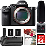 Sony Alpha 7S II Full-frame Mirrorless Interchangeable Lens Camera - Body (ILCE-7SM2/B) + Tascam DR-10SG Audio Recorder & Microphone Kit
