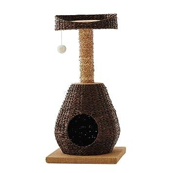 GCHOME Árbol de Gato Estructura de Escalada para Gatos, Cuerda de Lino Espada de Lino