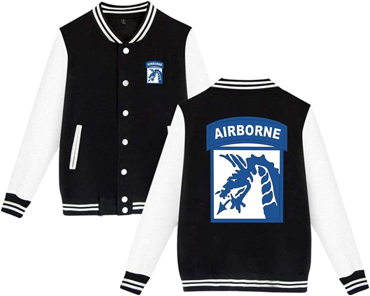 18th Airborne Corps Unisex Baseball Uniform Jacket Sweatshirt Sport Coat