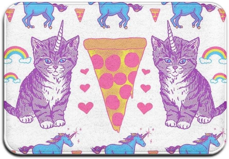 Quafoo Mariposas Púrpura Rojo Alfombrilla para la Puerta Principal Alfombrilla para Entrada Interior Grande al Aire Libre, 26a207 Cat Un 26a207 Cat Unicorn