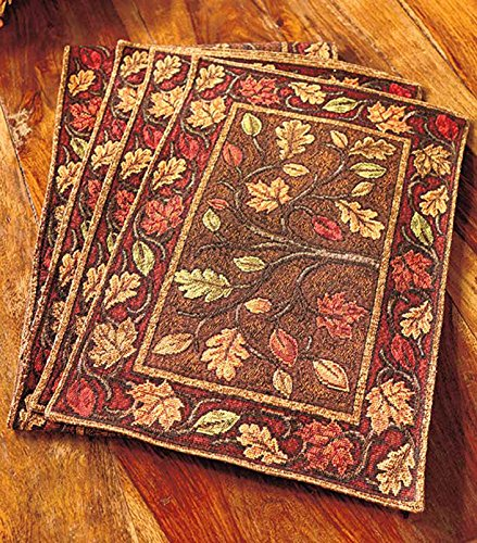 Harvest Leaves Tapestry Placemats Set Of 4 In Dubai Uae
