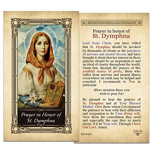 Prayer in Honor of St. Dymphna Laminated Holy Card - Pack of 3