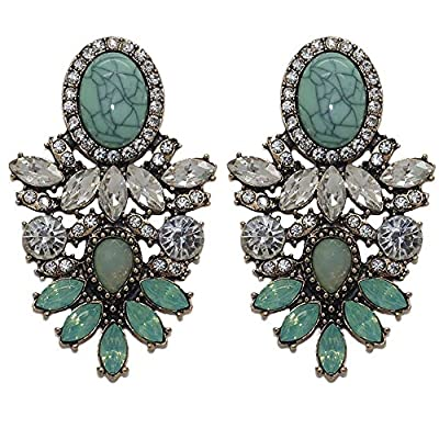 hot sell Bohemian Ethnic Statement Crystal Big Dangle Earrings