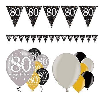 Fiesta Fiesta Fiesta Fiesta cumpleaños decoración para 80 ...