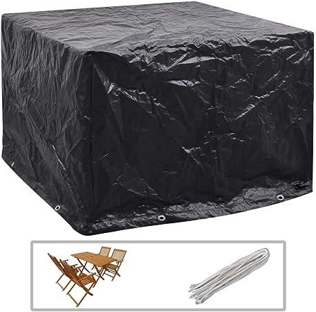 ghuanton Funda de Muebles de jardín 8 Ojales 122x112x98 cmMobiliario Accesorios para mobiliario de Exterior Fundas para mobiliario de Exterior: Amazon.es: Hogar