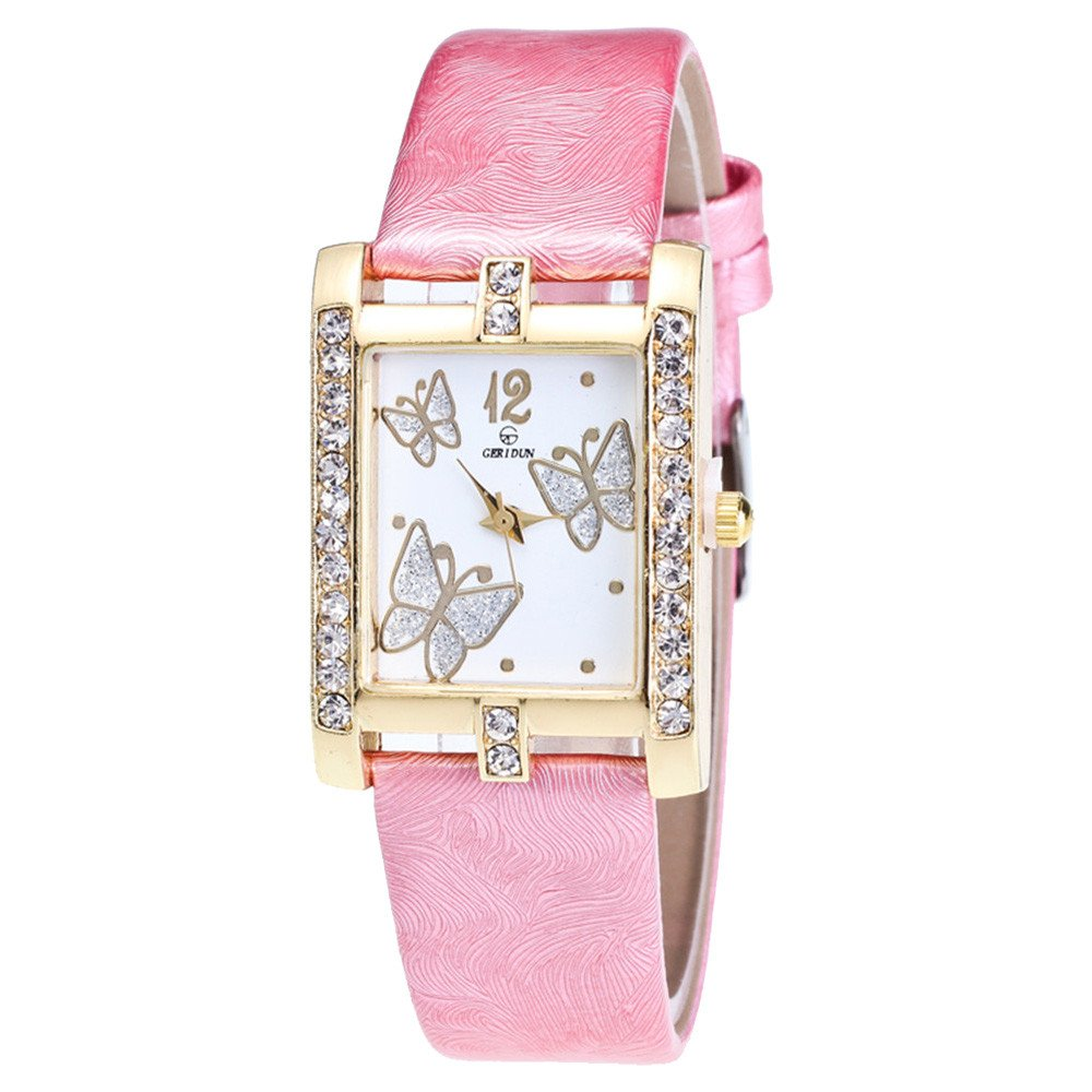 Eduavar Watches for Women On Sale Clearance Womens Rhinestone Analog Quartz Watch Fashion Wrist Watch Casual Bracelet Watches Gift Glass Dial Case Leather Stainless Steel Band Watches