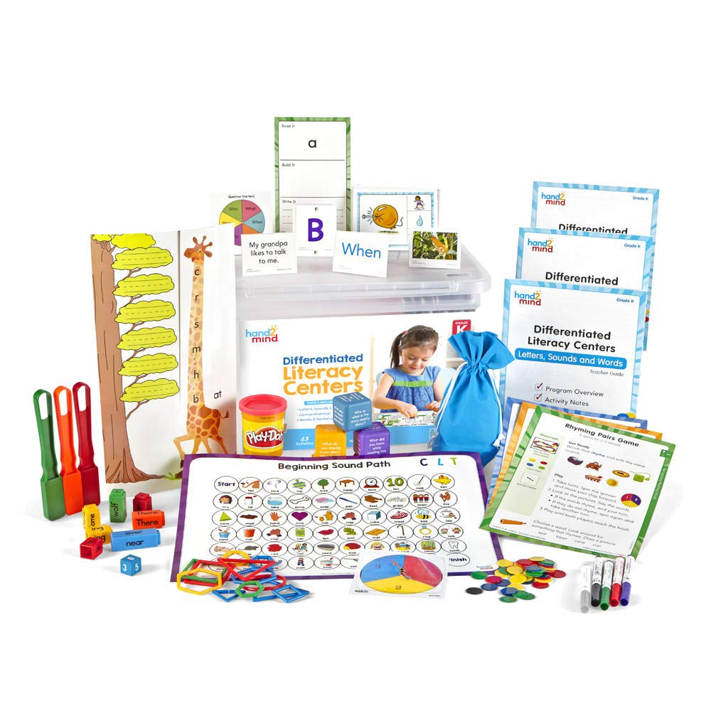 hand2mind Differentiated Literacy Center, Classroom Reading, Grade K