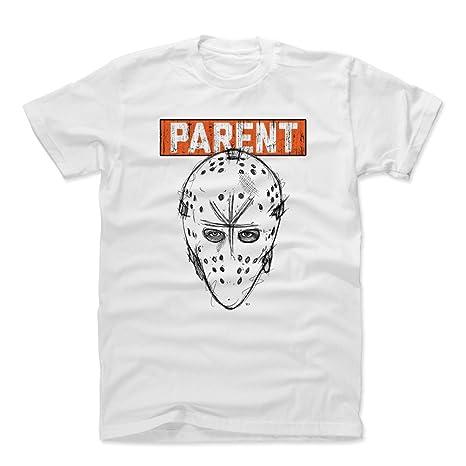 500 LEVEL Bernie Parent Cotton Shirt XXX-Large White - Vintage Philadelphia  Flyers Men s Apparel aa8caf71e