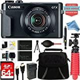 Canon PowerShot G7 X Mark II 20.1MP 4.2x Optical Zoom Digital Camera + Two-Pack NB-13L Spare Batteries + DigitalAndMore Free Accessory Bundle (Exclusive Cyber Monday Deal) For Sale