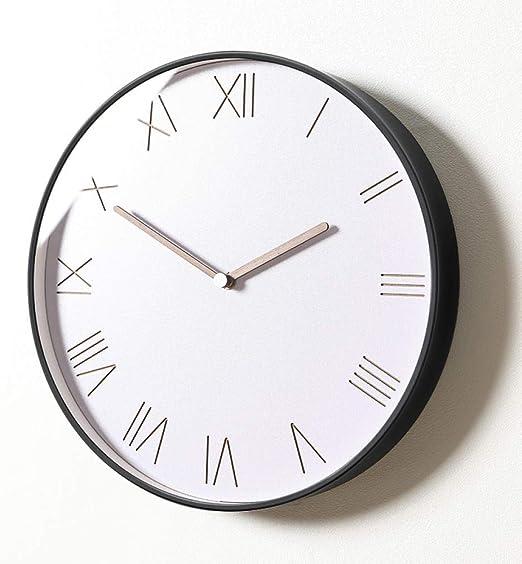 Amazon Com Mubgo Wall Clocks Nordic Luxury Wall Clock Metal Modern Simple Living Room Wall Watch Clock Mechanism Bedroom Silent Wall Clock Gift Home Kitchen