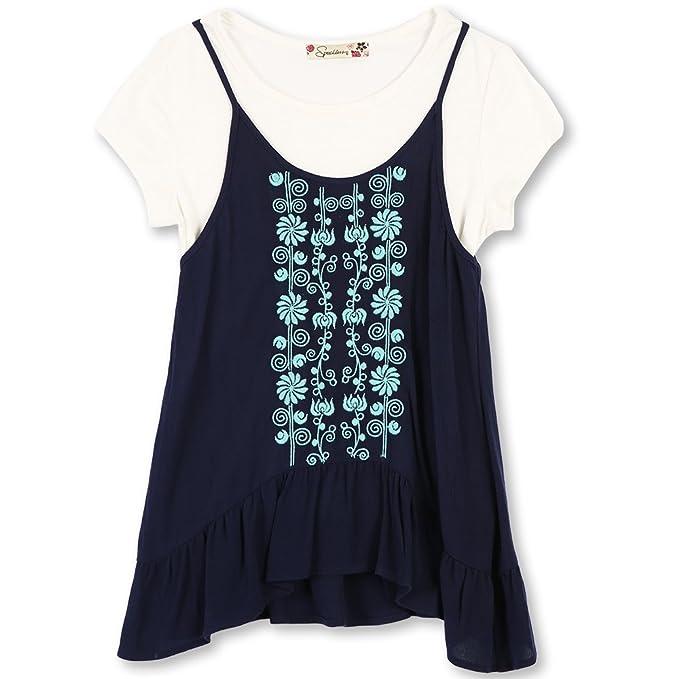 Amazon.com: Sin Habla Big Girls Babydoll Knit capas parte ...