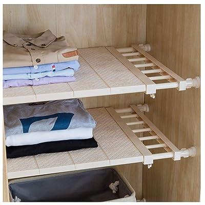 Adjustable Organizer Extendable Closet Closet Shelf Storage Rack Kitchen Cabinet