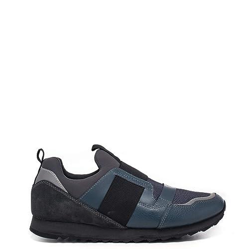Trussardi Jeans Sneaker Uomo 77A00102 Blu Running Elastic Catarifrangente  Reflex  Amazon.it  Scarpe e borse 552a08018cc