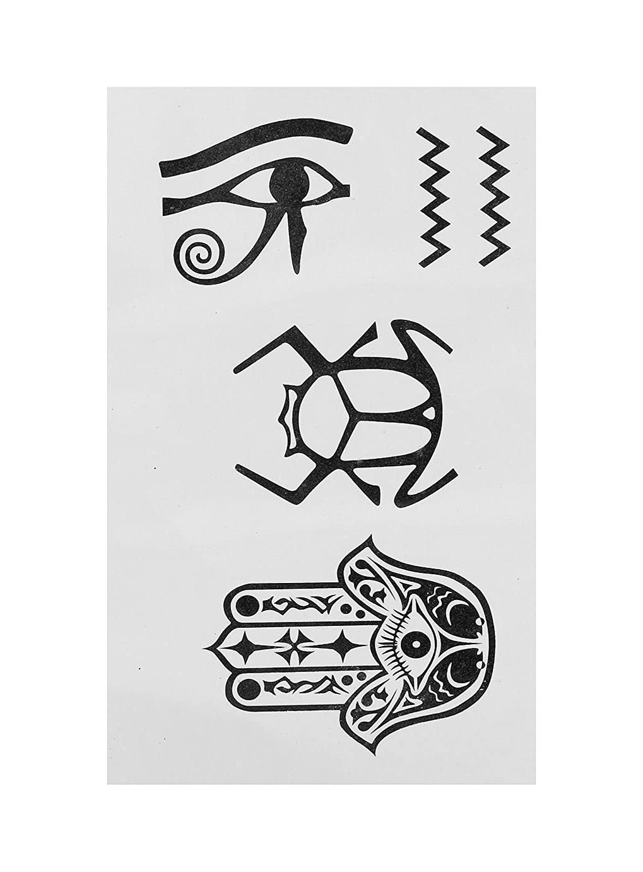 Lavida blíster Hiéroglyphe Tribal tatuajes egipcio-negro: Amazon ...
