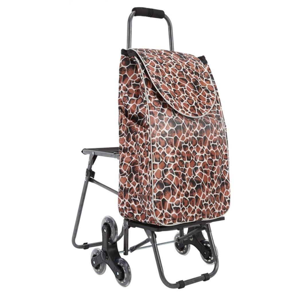 garantizado Folding Folding Folding Chair Home Escaleras Que suben Coche de la Carretilla del Carro del Equipaje del plegamiento con Las sillas Carretilla portátil del Carro de la Carretilla del Carro de la Compra  autorización