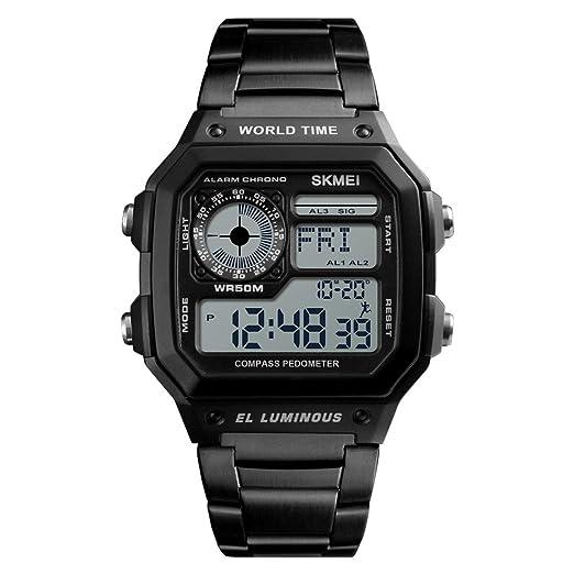 Jiuyizhe Al Aire Libre Multifuncional Reloj Brújula Impermeable ...