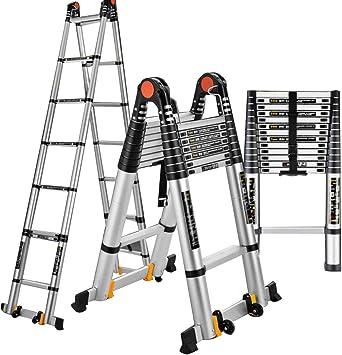 DD Escalera Telescópica, Escalera Conjunta Al Aire Libre, Ascensores Plegables Para Hogar, Escaleras Portátiles, Escalera Ingeniería Aleación Aluminio (Tamaño : 3.25m+3.25m=6.5m(21.33 ft)): Amazon.es: Bricolaje y herramientas