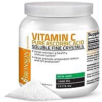 Vitamin C Powder Pure Ascorbic Acid Soluble Fine Non GMO Crystals – Promotes Healthy...