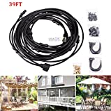 39FT Outdoor Misting Cooling System Garden Irrigation Water Mister Nozzles Set