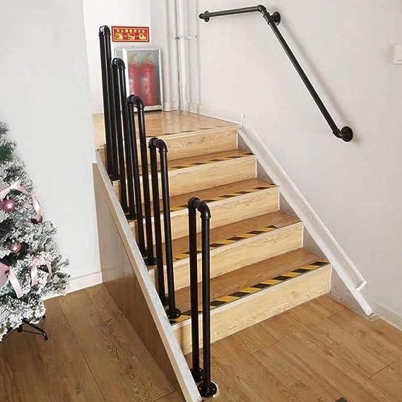 Pasamanos Escalera Barandilla para escalera en forma de U 35-100cm, de 1 o 2 pasos Barra de soporte de barandas de pasillo, Kit de barra de apoyo para niños mayores para loft /