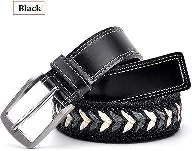 Bridfa Cinturones CinturóN De Cuero Trenzado Para Hombres CinturóN ...