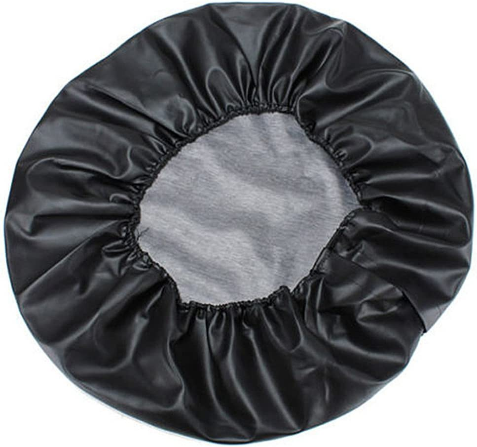 Black 15 Inch Spare Tire Cover 27-30 Compatible For Honda CRV Special PVC Leather Spare Tire Cover