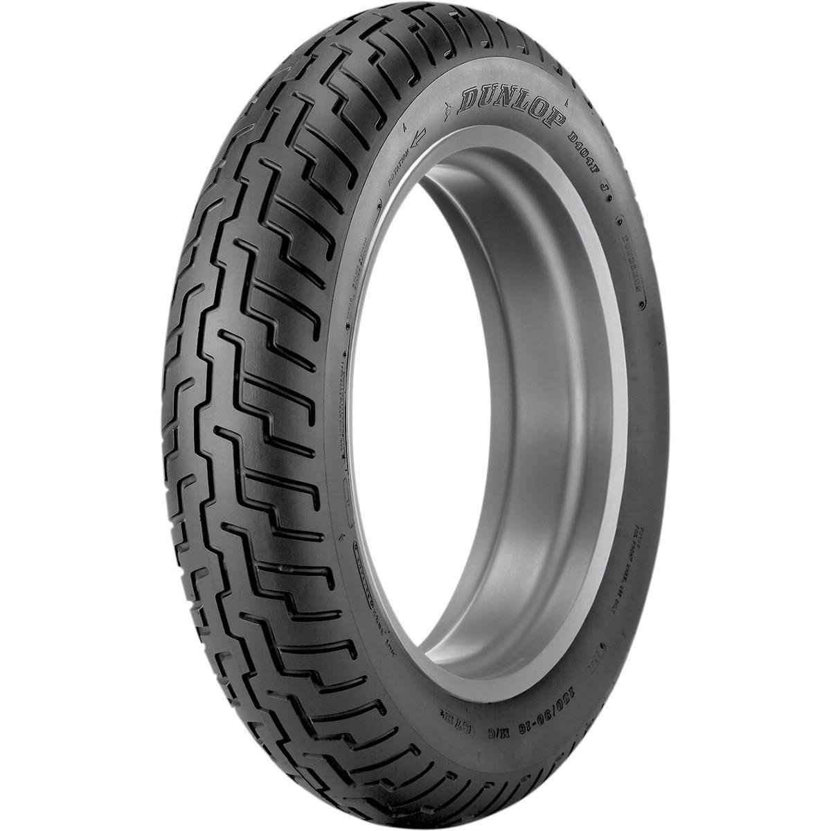Dunlop D404 Tire - Front - 110/90-18 , Speed Rating: H, Tire Type: Street, Tire Construction: Bias, Position: Front, Rim Size: 18, Load Rating: 56, Tire Application: Cruiser, Tire Size: 110/90-18 32NK29