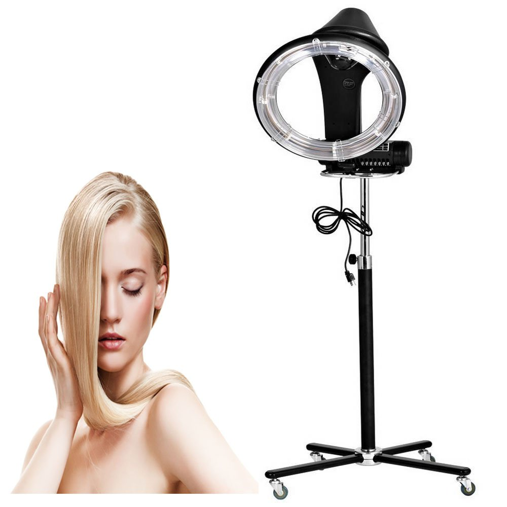 110V Professional Stand Hair Dry Roller Dryer, Heater Perm Color Treatment Processor, Salon Equipment for Barber Hairdresser (900W)