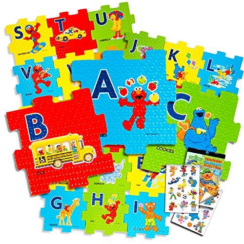 Kids Soft Foam Cube (Sesame Street Giant Floor Puzzle for Kids -- 3 Foot Foam Puzzle with Bonus Sesame Street Stickers (Sesame Street ABC))
